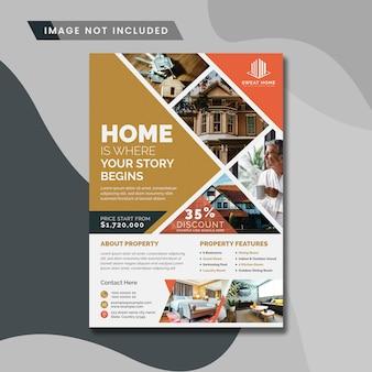 Kreativer flyer für immobilien