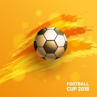 Kreativer Fußball-Weltmeisterschafts-Hintergrund-Fußball 2018. Vektor-Illustration