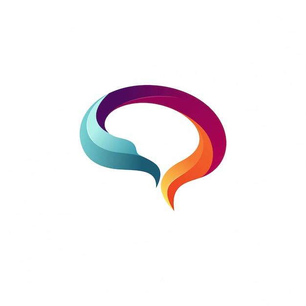 Kreativer gehirn logo stock vector