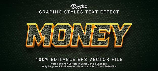 Kreativer geld-gold-text-stil-effekt
