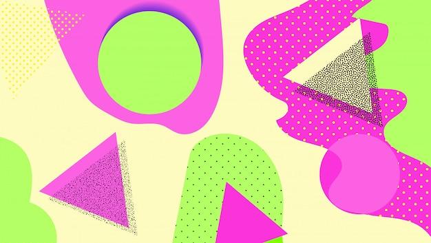 Kreativer geometrischer hintergrund mit florenelementen und verschiedenen beschaffenheiten. collage.