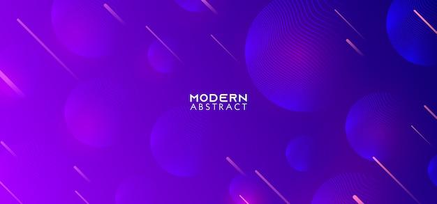 Kreativer geometrischer hintergrund mit ultra violetter modischer steigung formt zusammensetzung