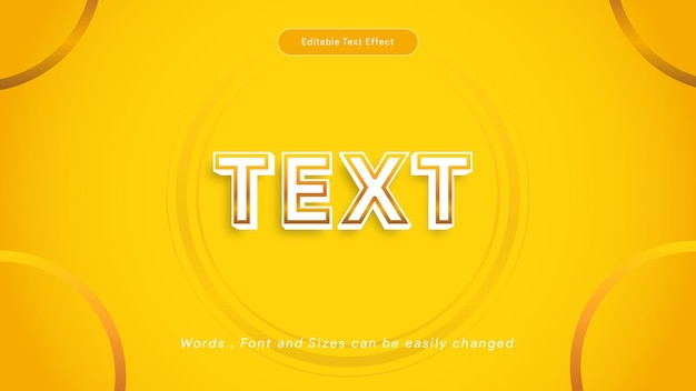Kreativer goldener texteffekt bearbeitbarer texteffekt goldener luxustextartvektor