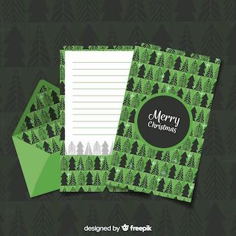 Kreativer grüner weihnachtsumschlag