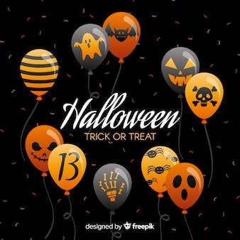 Kreativer halloween-ballonhintergrund