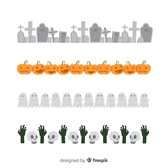 Kreativer halloween-grenzsatz