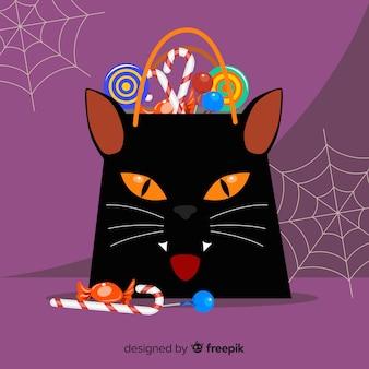 Kreativer halloween-taschenentwurf