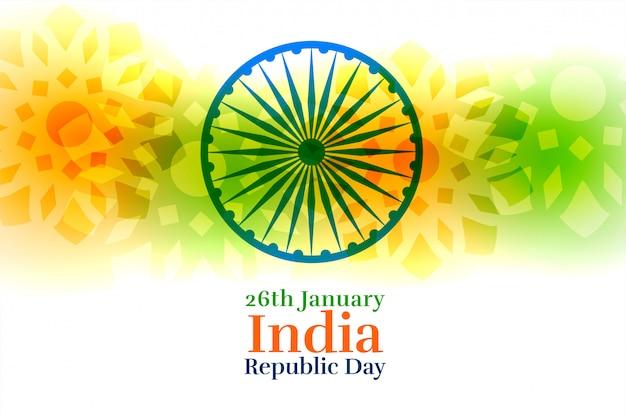 Kreativer hintergrund glücklicher tag der republik indiens