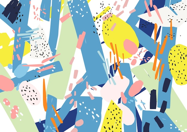 Kreativer horizontaler künstlerischer hintergrund mit abstrakten formen