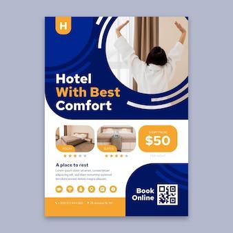 Kreativer hotelinformationsflyer mit foto
