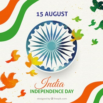 Kreativer indischer unabhängigkeitstaghintergrund