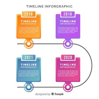 Kreativer infographic geschäftsjahresbericht