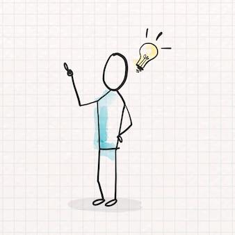 Kreativer innovationsgekritzel-designvektor