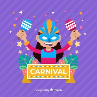 Kreativer karnevalshintergrund in der flachen art