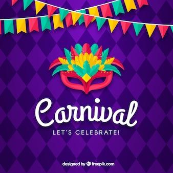Kreativer karnevalshintergrund
