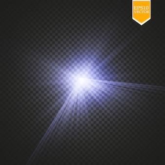 Kreativer konzeptsatz von sternen des glühlichteffekts platzt mit den auf schwarzem hintergrund isolierten funkeln