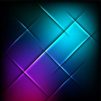 Kreativer leuchtender abstrakter hintergrund.