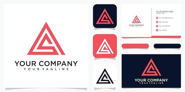 Kreativer logo-monogrammbuchstabe als logo-design und visitenkarte.