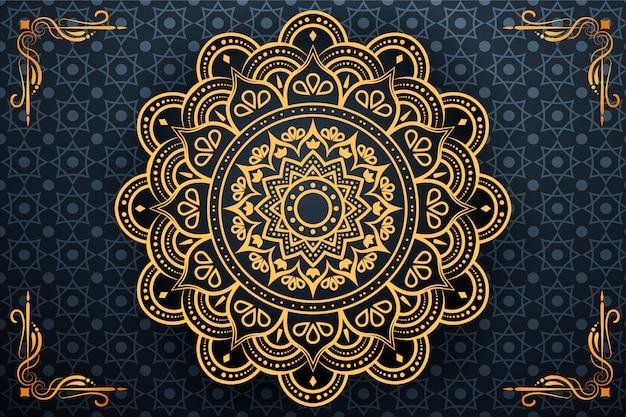 Kreativer luxus-arabesken-mandala-hintergrund