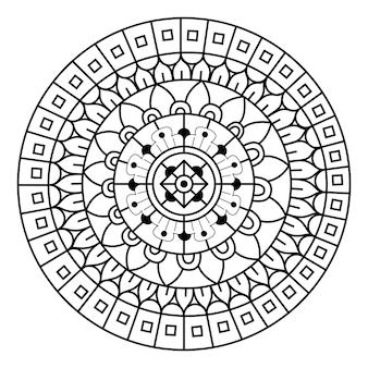 Kreativer luxus der mandala-illustration