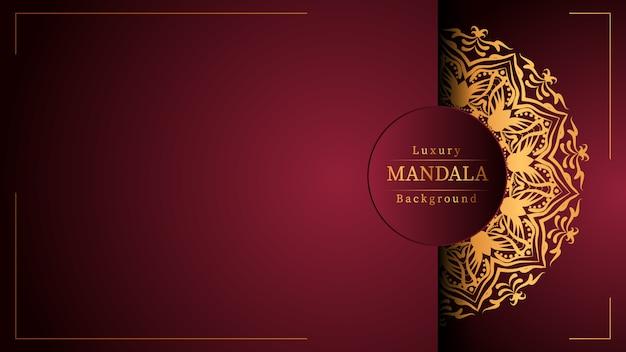 Kreativer luxus kreativer luxus-mandala-hintergrund