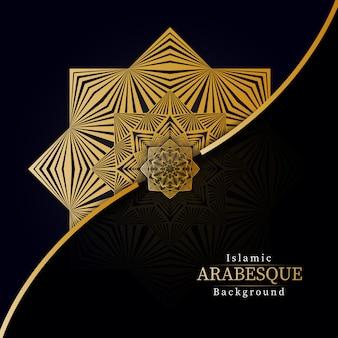 Kreativer luxus-mandala background mit goldener arabeskendekoration