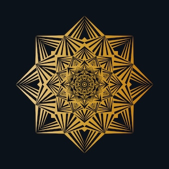 Kreativer luxus-mandala background with golden creative-arabesken-muster-arabische islamische ostart