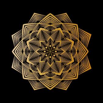 Kreativer luxusmandalahintergrund mit goldenem arabeskenmuster