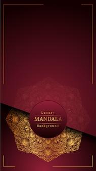 Kreativer luxusmandalahintergrund mit goldener arabeskendekoration