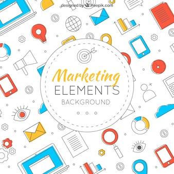Kreativer marketing-hintergrund