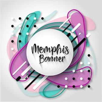 Kreativer Memphis-abstrakter Hintergrund
