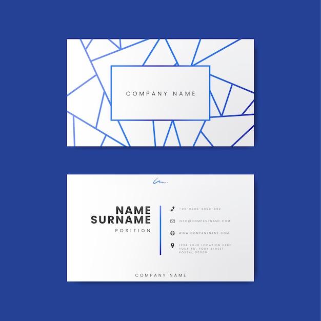 Kreativer minimaler und moderner visitenkarteentwurf, der geometrische formen kennzeichnet