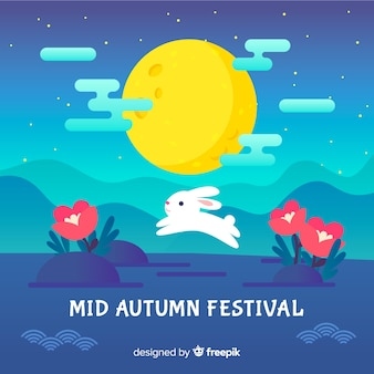 Kreativer mittlerer herbstfestivalhintergrund