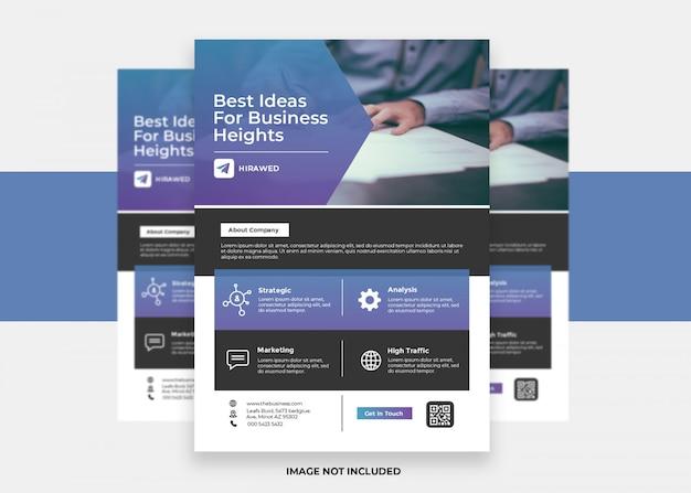 Kreativer moderner corporate design flyer