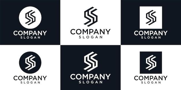 Kreativer monogrammbuchstabe s. logo-vorlage