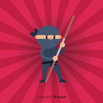 Kreativer ninja-kriegershintergrund