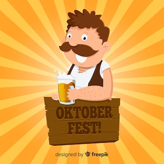 Kreativer oktoberfest-hintergrund