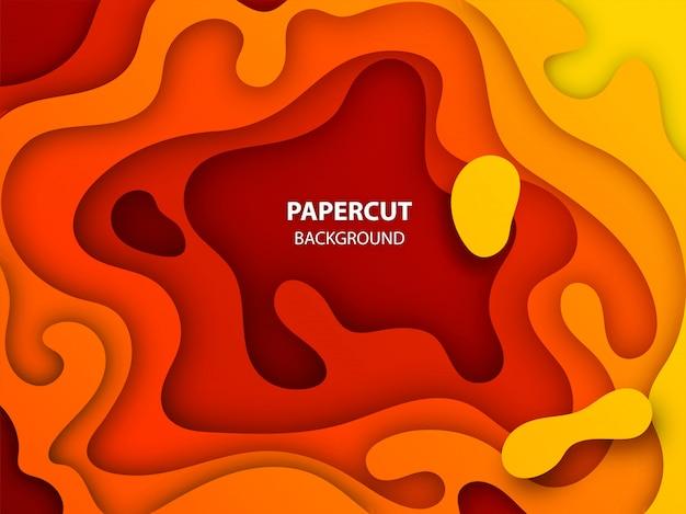 Kreativer origamikunsthintergrund mit papierschicht schnitt rahmen.