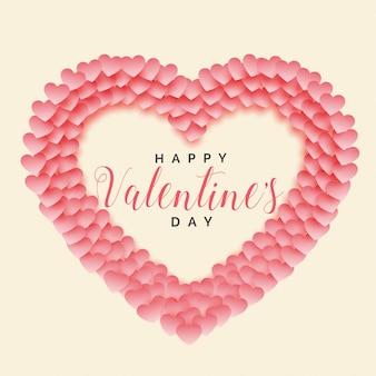 Kreativer papercut herzform-valentinstaghintergrund