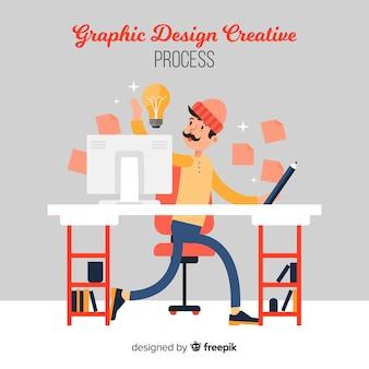 Kreativer prozess des grafikdesigns