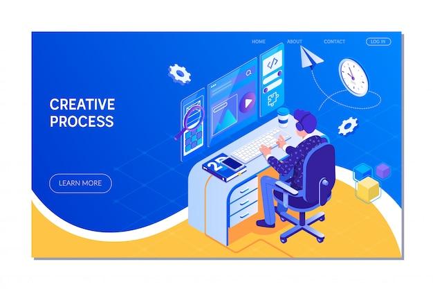 Kreativer prozess und brainstorming
