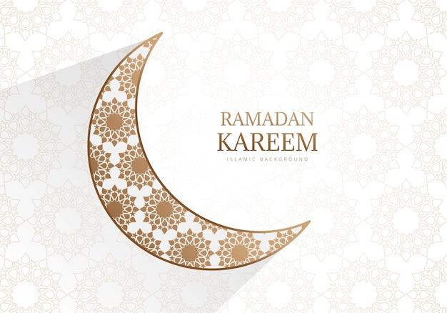 Kreativer ramadan kareem mit mondhintergrund