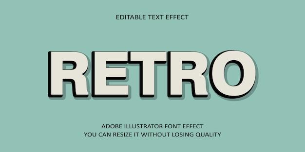 Kreativer retro- editable vektortext-effekt-guss