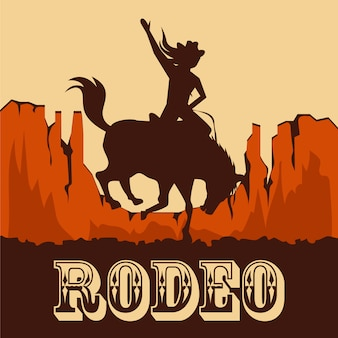 Kreativer rodeo hintergrund