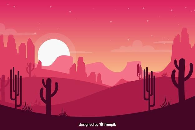Kreativer rosa wüstenlandschaftshintergrund