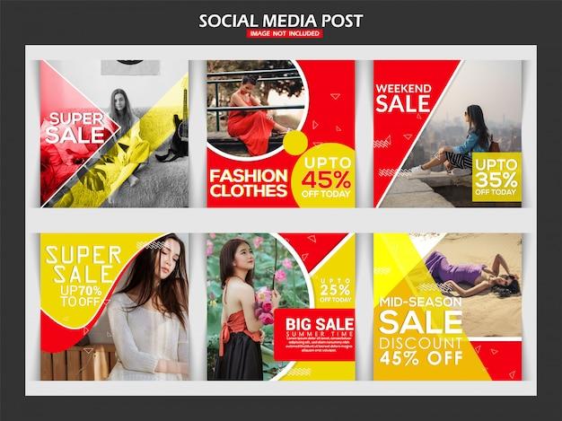 Kreativer social-media-beitrag der mode