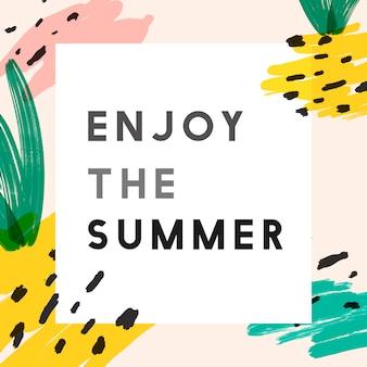 Kreativer sommer instagram hintergrund