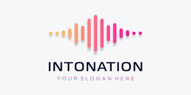 Kreativer symbolpuls. intonationswellenelement. logo-vorlage elektronische musik, equalizer
