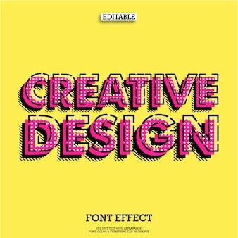 Kreativer Text Poster Tittle Design