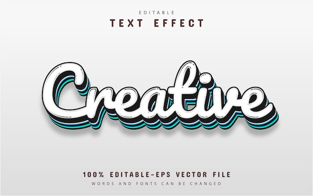 Kreativer texteffekt bearbeitbar